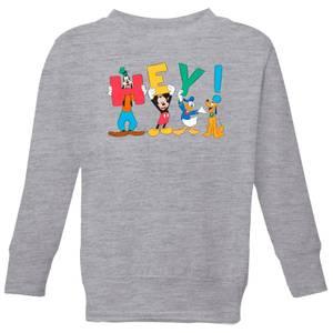 Disney Mickey Mouse Hey! Kids' Sweatshirt - Grey