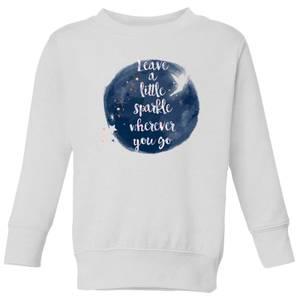 Disney Leave A Little Sparkle Kids' Sweatshirt - White
