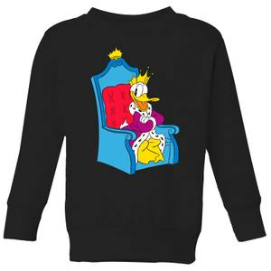 Disney King Donald Kids' Sweatshirt - Black