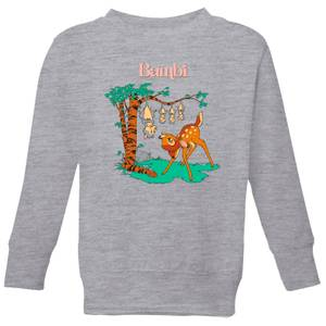 Disney Bambi Tilted Up Kids' Sweatshirt - Grey