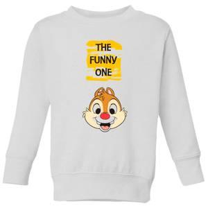 Disney Chip 'N' Dale The Funny One Kids' Sweatshirt - White