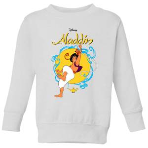 Disney Aladdin Rope Swing Kids' Sweatshirt - White
