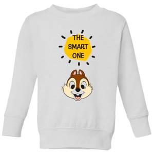 Disney Chip 'N' Dale The Smart One Kids' Sweatshirt - White