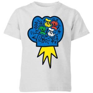 Donald Duck Pop Fist Kids' T-Shirt - Grey