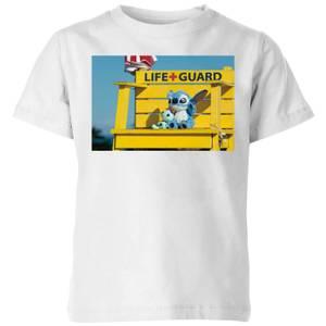 Disney Lilo And Stitch Life Guard Kids' T-Shirt - White