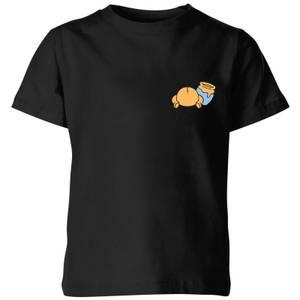 Disney Winnie The Pooh Backside Kids' T-Shirt - Black