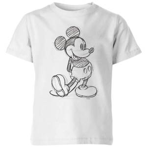 Disney Mickey Mouse Sketch Kids' T-Shirt - White