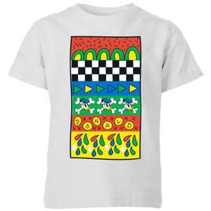 Donald Duck Vintage Pattern Kids' T-Shirt - Grey