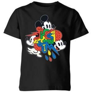 Disney Mickey Mouse Vintage Arrows Kids' T-Shirt - Black