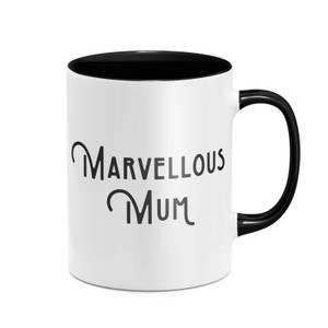 Marvellous Mum Mug - White/Black