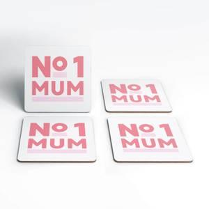 No.1 Mum Coaster Set