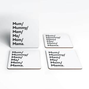 Mum's And Mam's Coaster Set