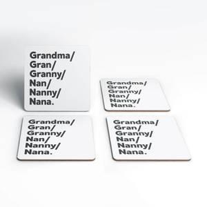 Gran's And Nan's Coaster Set