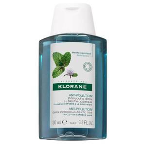 KLORANE Detox Shampoo with Aquatic Mint Travel Size 3.3 fl oz.