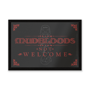 Harry Potter Mudbloods Not Welcome Entrance Mat