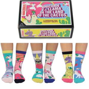 United Oddsocks Women's Unicorn vs Llama Socks Gift Set (UK 4-8)