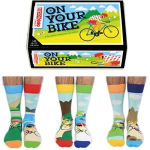 United Oddsocks Men's On Your Bike Socks Gift Set (UK 6-11)