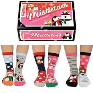 United Oddsocks Women's Misteltoes Gift Set (UK 4-8)