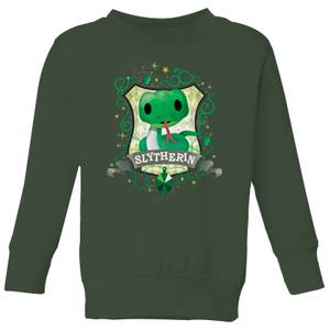 Harry Potter Kids Slytherin Crest Kids' Sweatshirt - Forest Green