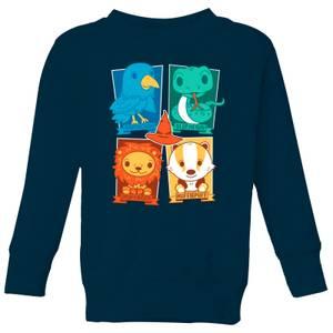 Harry Potter Kids Hogwarts Houses Kids' Sweatshirt - Navy