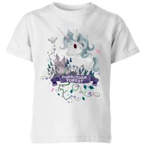 Harry Potter Kids Forbidden Forest Unicorn Kids' T-Shirt - White
