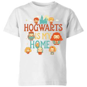 Harry Potter Kids Hogwarts Is My Home Kids' T-Shirt - White