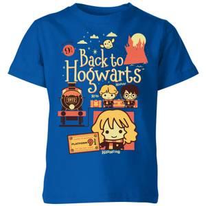 Harry Potter Kids Back To Hogwarts Kids' T-Shirt - Royal Blue