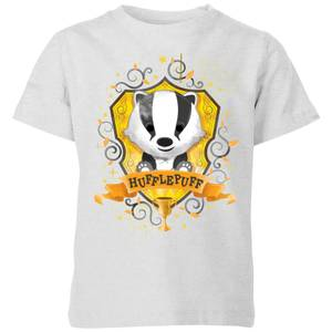 Harry Potter Kids Hufflepuff Crest Kids' T-Shirt - Grey