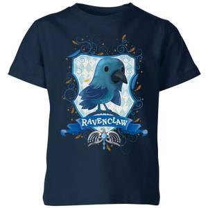 Harry Potter Kids Ravenclaw Crest Kids' T-Shirt - Navy