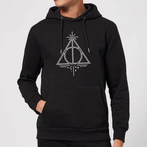 Felpa con cappuccio Harry Potter Deathly Hallows - Nero