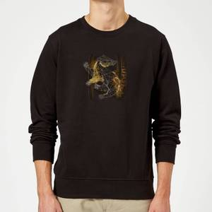 Harry Potter Hufflepuff Geometric Sweatshirt - Black
