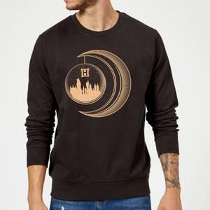 Harry Potter Globe Moon Sweatshirt - Black