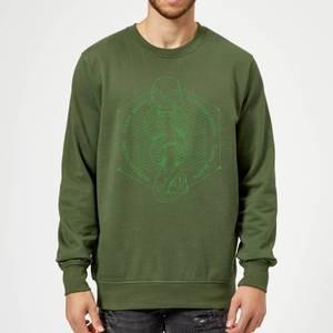 Harry Potter Morsmordre Dark Mark Sweatshirt - Forest Green