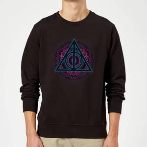 Felpa Harry Potter Deathly Hallows Neon - Nero