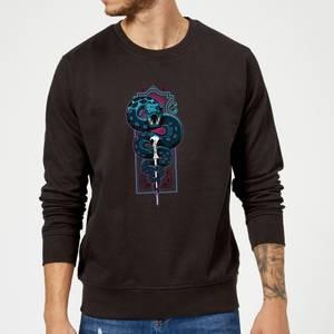 Harry Potter Nagini Neon Sweatshirt - Black