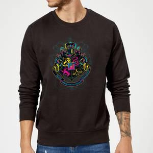 Harry Potter Hogwarts Neon Crest Sweatshirt - Black