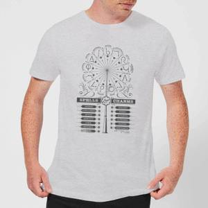 Harry Potter Spells Charms Men's T-Shirt - Grey