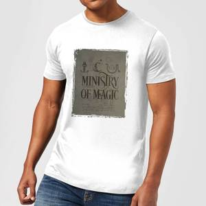 Harry Potter Ministry Of Magic Men's T-Shirt - White