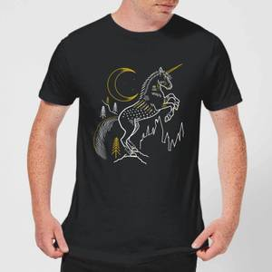 Harry Potter Unicorn Men's T-Shirt - Black