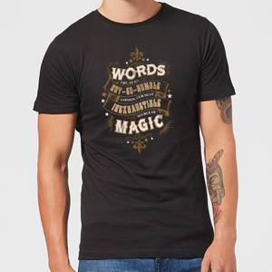 Harry Potter Words Are, In My Not So Humble Opinion Men's T-Shirt - Black