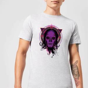 Harry Potter Death Mask 2 Neon Men's T-Shirt - Grey