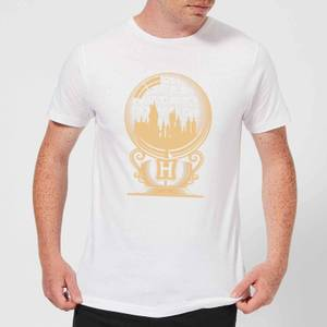 Harry Potter Hogwarts Snowglobe Men's T-Shirt - White