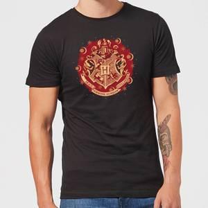 T-Shirt Harry Potter Hogwarts Christmas Crest - Nero - Uomo