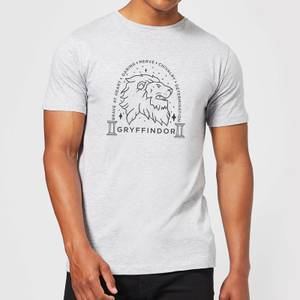 Harry Potter Gryffindor Linework Men's T-Shirt - Grey