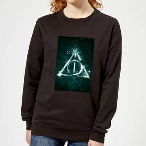 Harry Potter Hallows Painted Women's Sweatshirt - Black