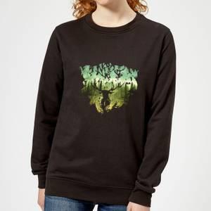 Harry Potter Patronus Lake Women's Sweatshirt - Black
