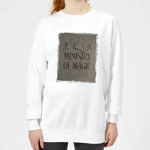 Harry Potter Ministry Of Magic Women's Sweatshirt - White
