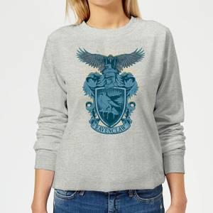 Harry Potter Ravenclaw Drawn Crest Women's Sweatshirt - Grey
