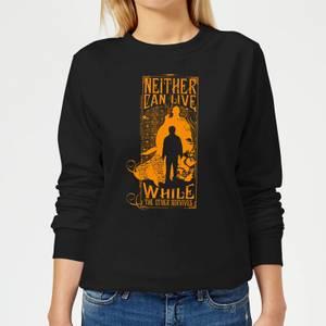 Harry Potter Neither Can Live Women's Sweatshirt - Black