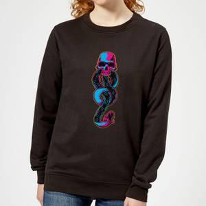 Harry Potter Dark Mark Neon Women's Sweatshirt - Black